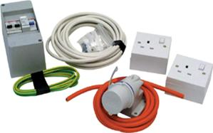 Caravan mains hook up kit