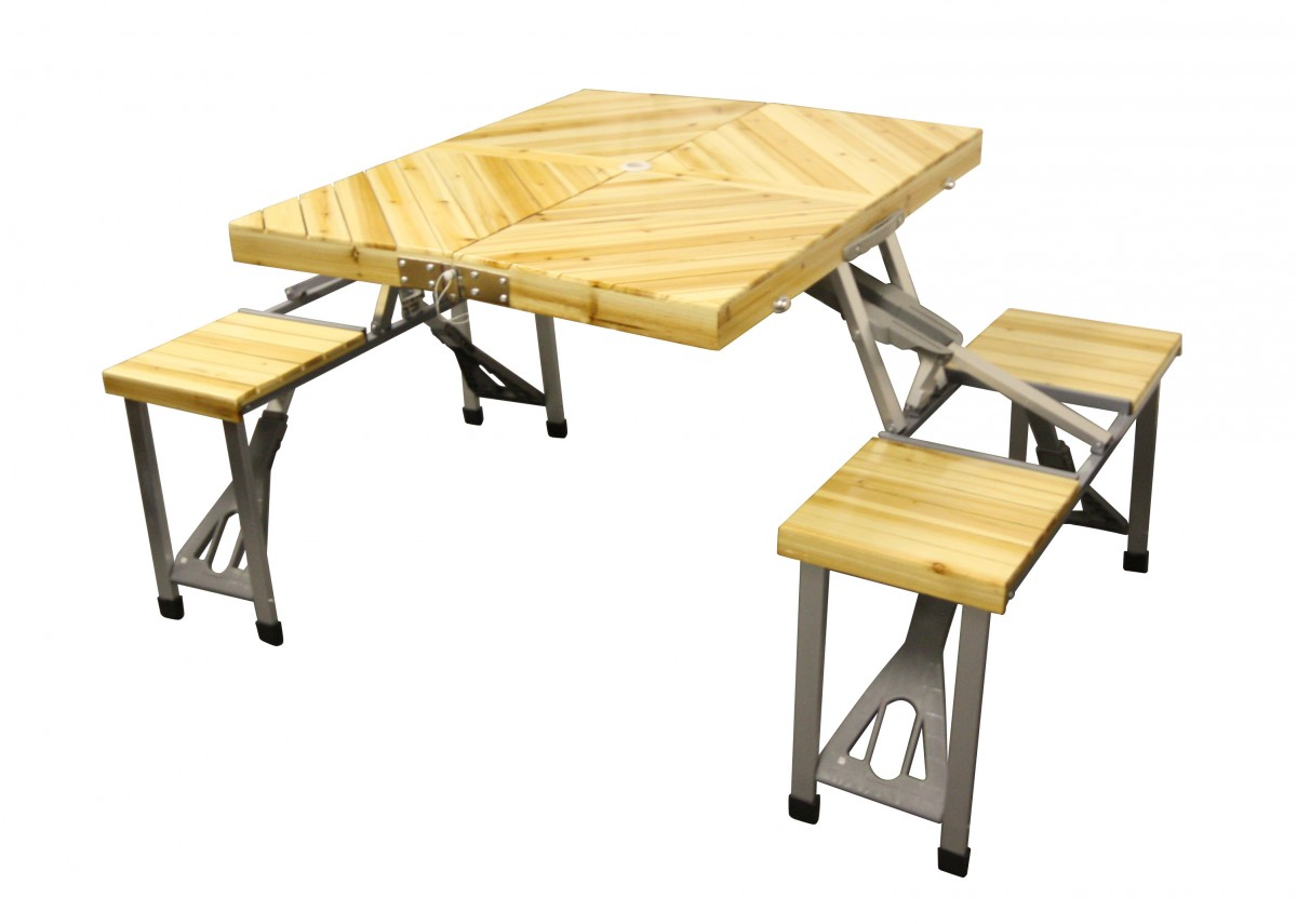 Picnic Table Set : picnic table with a difference. This table come with a lovely wooden ...