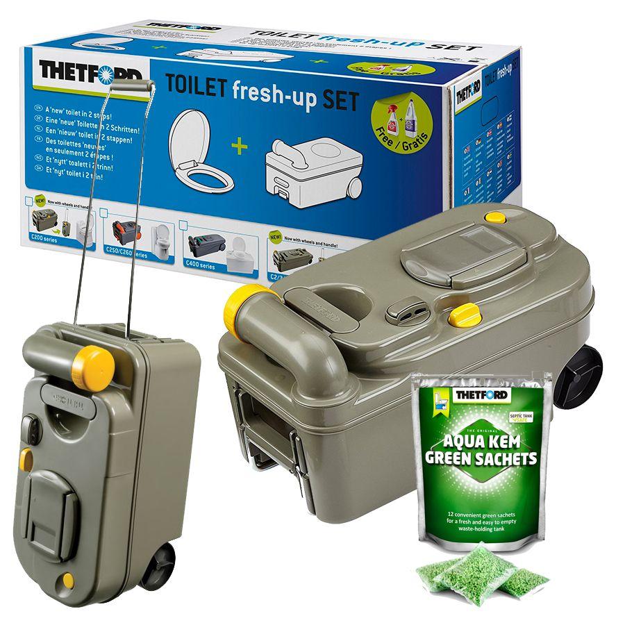 thetford toilet c200 cassette seat fresh up kit caravan. Black Bedroom Furniture Sets. Home Design Ideas