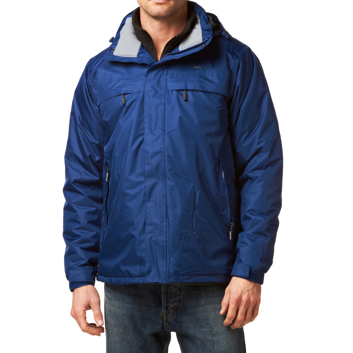 Trespass Micki Mens Waterproof Hooded Jacket in Twilight