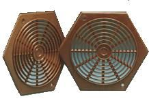 Brown Hexagon Vent 78mm (pack of 2)