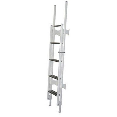 CTA 9 STEP WHITE FOLDING LADDER, caravan motorhome Ladder - Grasshopper Leisure, caravan equipment and accessories