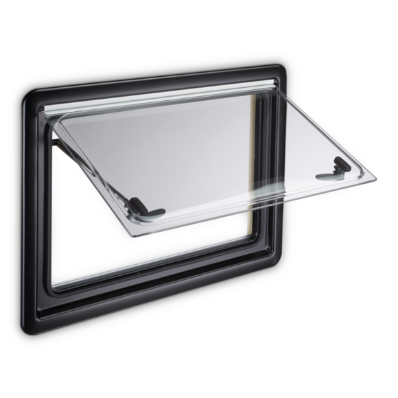 Dometic Seitz S4 Top-Hung Hinged Opening Window - 600mm x 600mm, Caravan Campervan Motorhome Windows - Grasshopper Leisure
