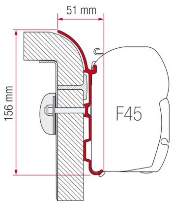 Fiamma F45 Awning Adapter Kit - Burstner