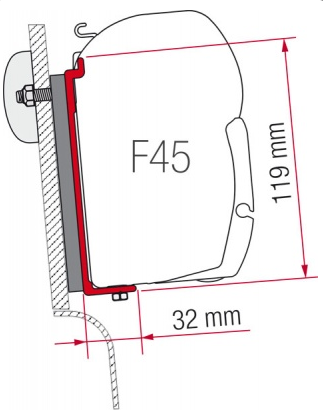 Fiamma F45 Awning Adapter Kit - Westfalia (High Roof)