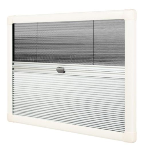Horrex DuoPliss UCS Caravan Window Blind (1300x500mm) Campervan Motorhome - Grasshopper Leisure