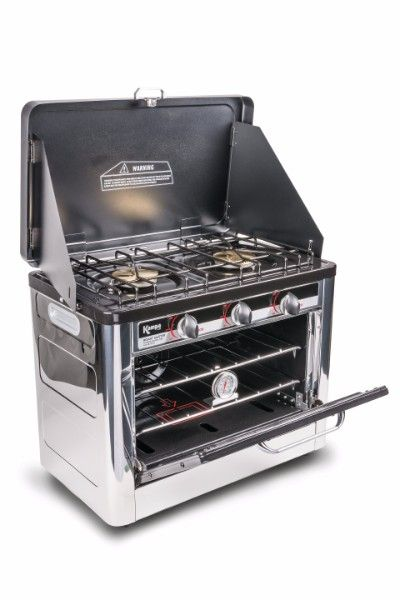 Kampa Roast Master Double Gas Hob & Oven, Portable Camping Stove Oven - Grasshopper Leisure