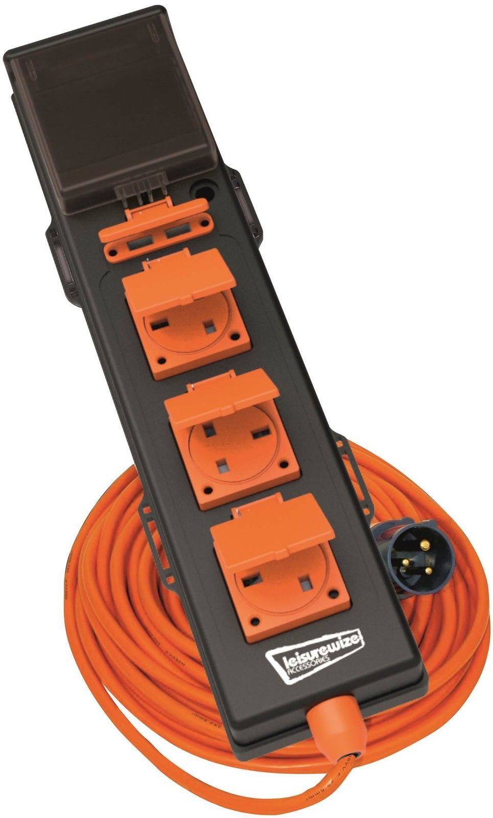 Leisurewize 5 Way -240V Mobile Mains Unit RCD 5-in-1 Hook Up Cable ...