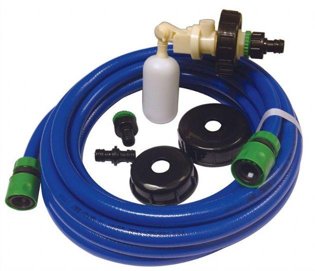 CARAVAN WATER WASTE ADAPTOR HOSE PIPE CONNECTOR 10mm ELBOW PLASTIC