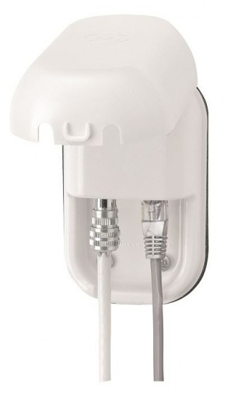 Maxview B2015 Weatherproof Twin Socket with RJ45 WiFi Connector & Coaxial (TV/ Radio) Connector