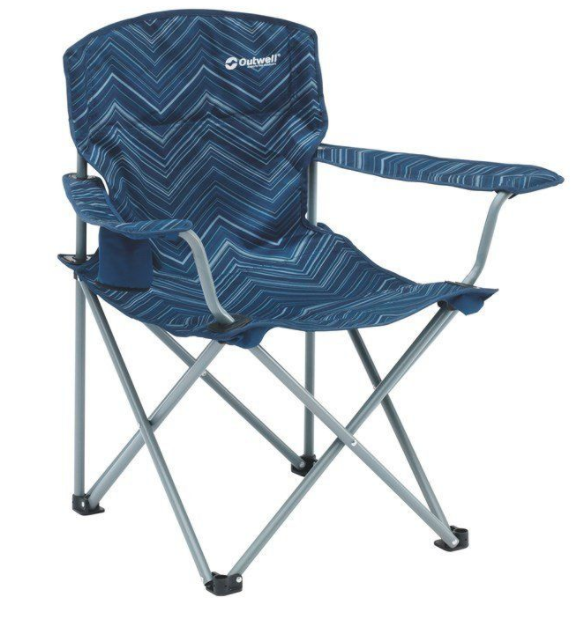 Outwell Woodland Hills Camping Chair Blue, Outdoor Garden Camping Chairs - Grasshopper Leisure