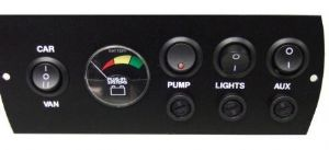 Plug-In Systems 12V Control Panel Car/Aux/Pump/Battery Meter