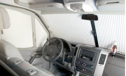 Remis Remifront Cab Blinds - Mercedes Sprinter 2007 Onwards / VW Crafter, Remis Remifront Tailored Blind System for Mercedes Sprinter (2007 Onwards) - Grasshopper Leisure