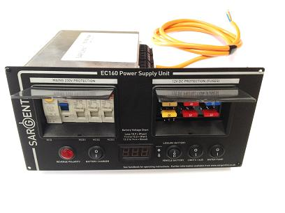 Sargent EC160 Power Supply Unit - Horizontal, Charging & Distribution for caravan and motorhomes - Grasshopper Leisure
