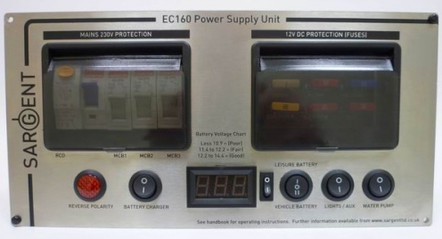 sargent silver ec160 power supply unit deluxe horizontal