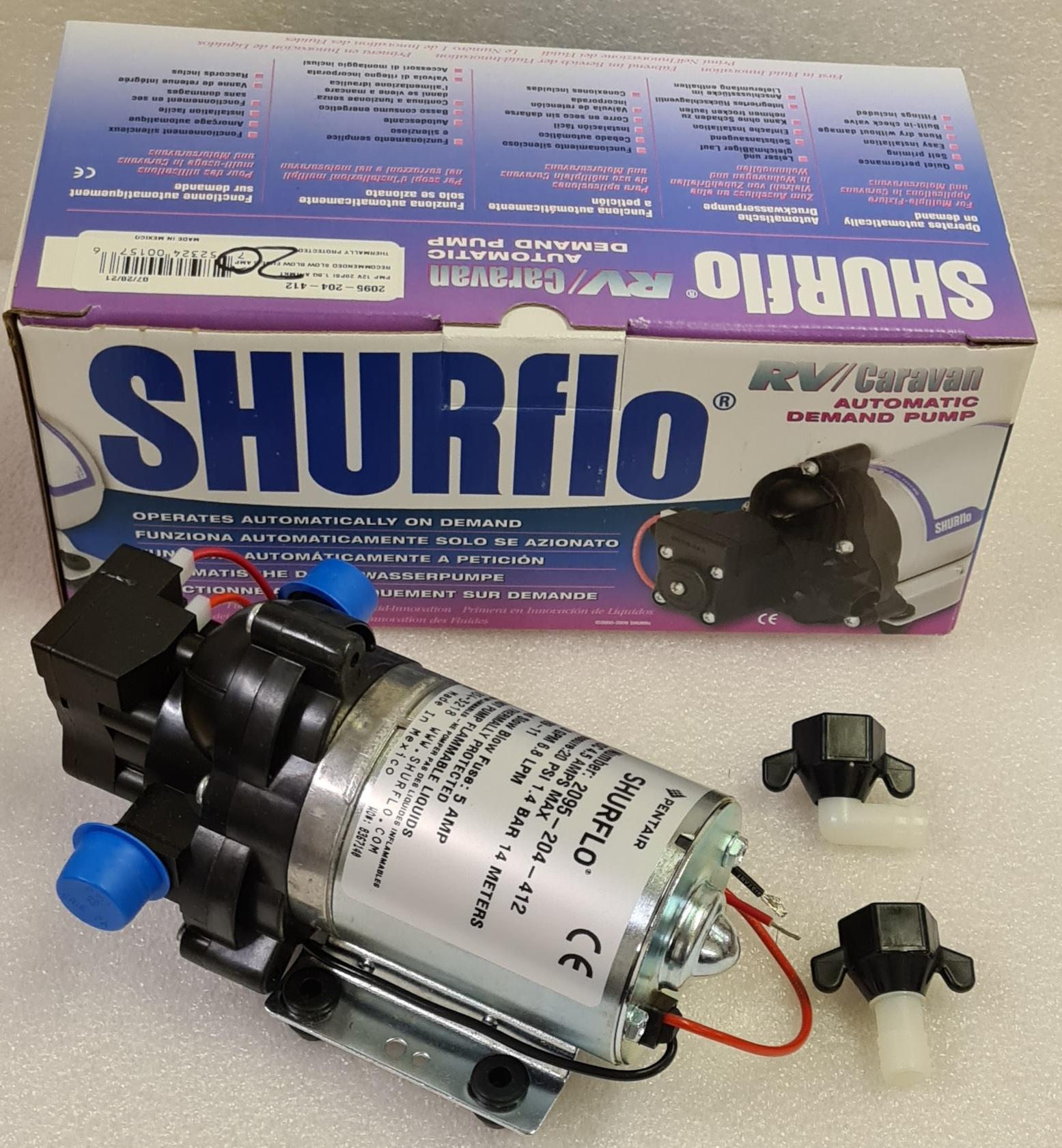 Shurflo Water Pump >> Shurflo 12v 20psi 7 Lpm Pressurised Water Pump