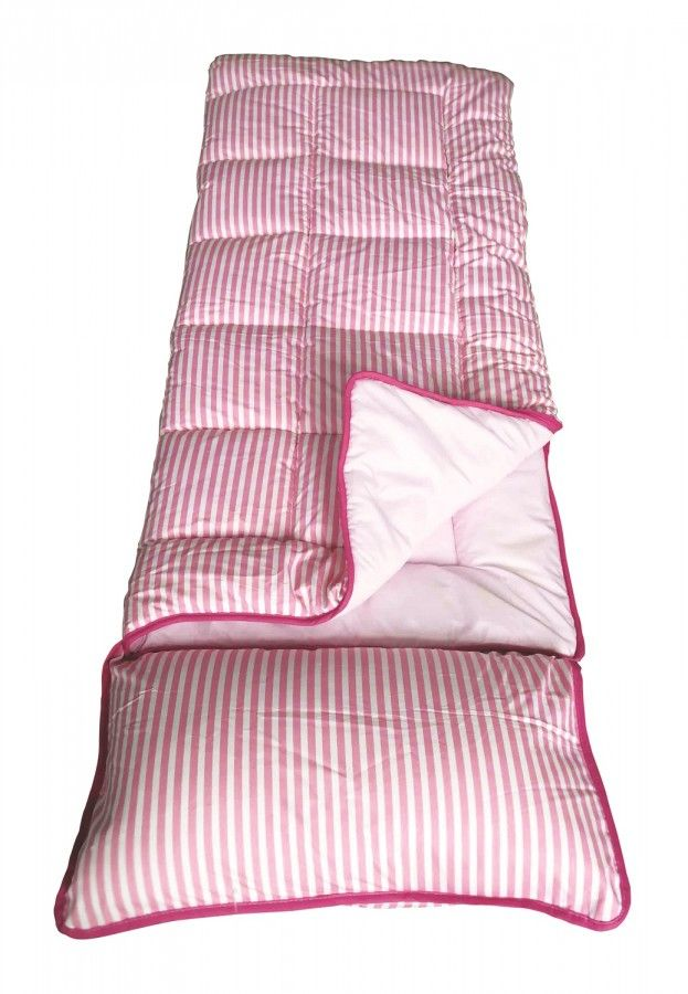 Kids Sleeping Bag - SunnCamp Junior Pink Stripe - Grasshopper Leisure