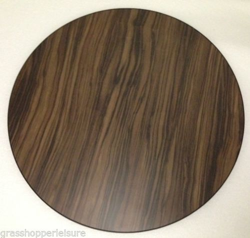 Make to order customized Walnut Round Wooden Table Top for Caravan Campervan Motorhome Equipment - Grasshopper Leisure