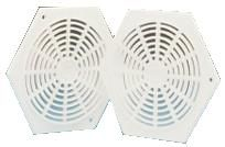 White Hexagon Vent 78mm (pack of 2)