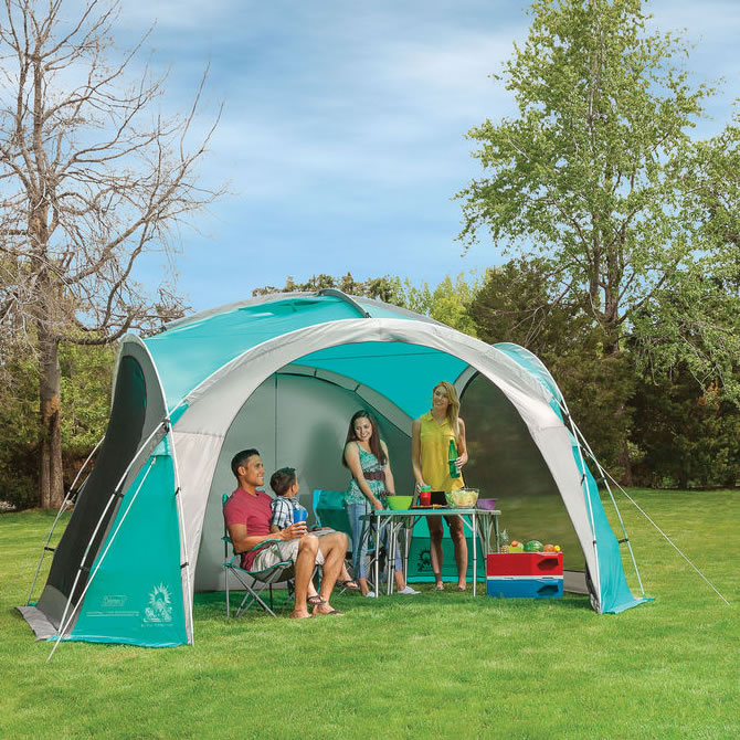 A large open event shelter from Coleman ... & Coleman Event Dome 4.5m with 4 screen walls u0026 2 Doors capming ...