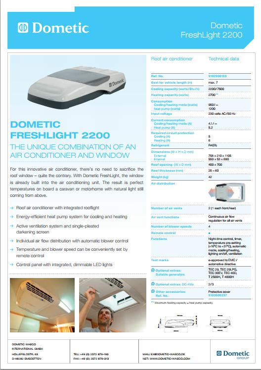 Dometic caravan Air Conditioner manual