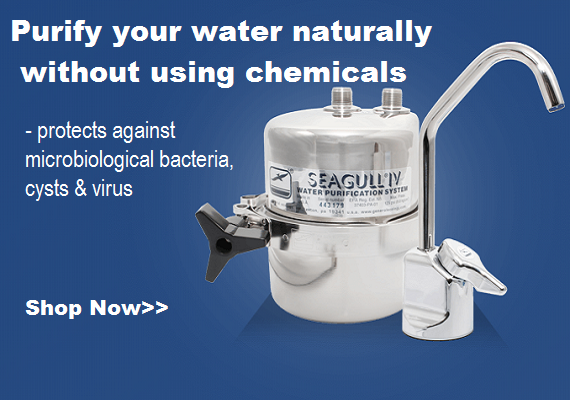 General Ecology drinking water purifiers rid fresh water tanks of tank taste and more