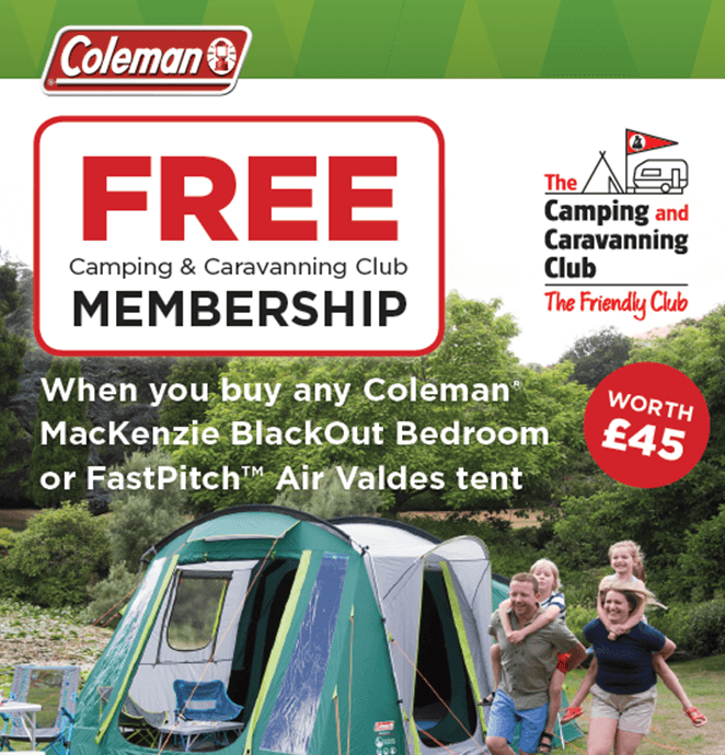 Get Free Camping & Caravanning Club Worth £45