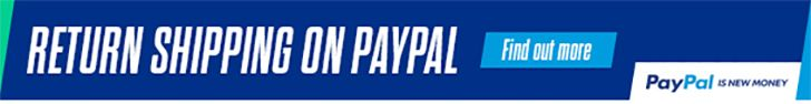 Return shipping on Paypal at Grasshopper Leisure